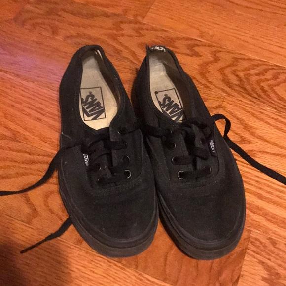 Vans Shoes | Black Size 4 Kids 55